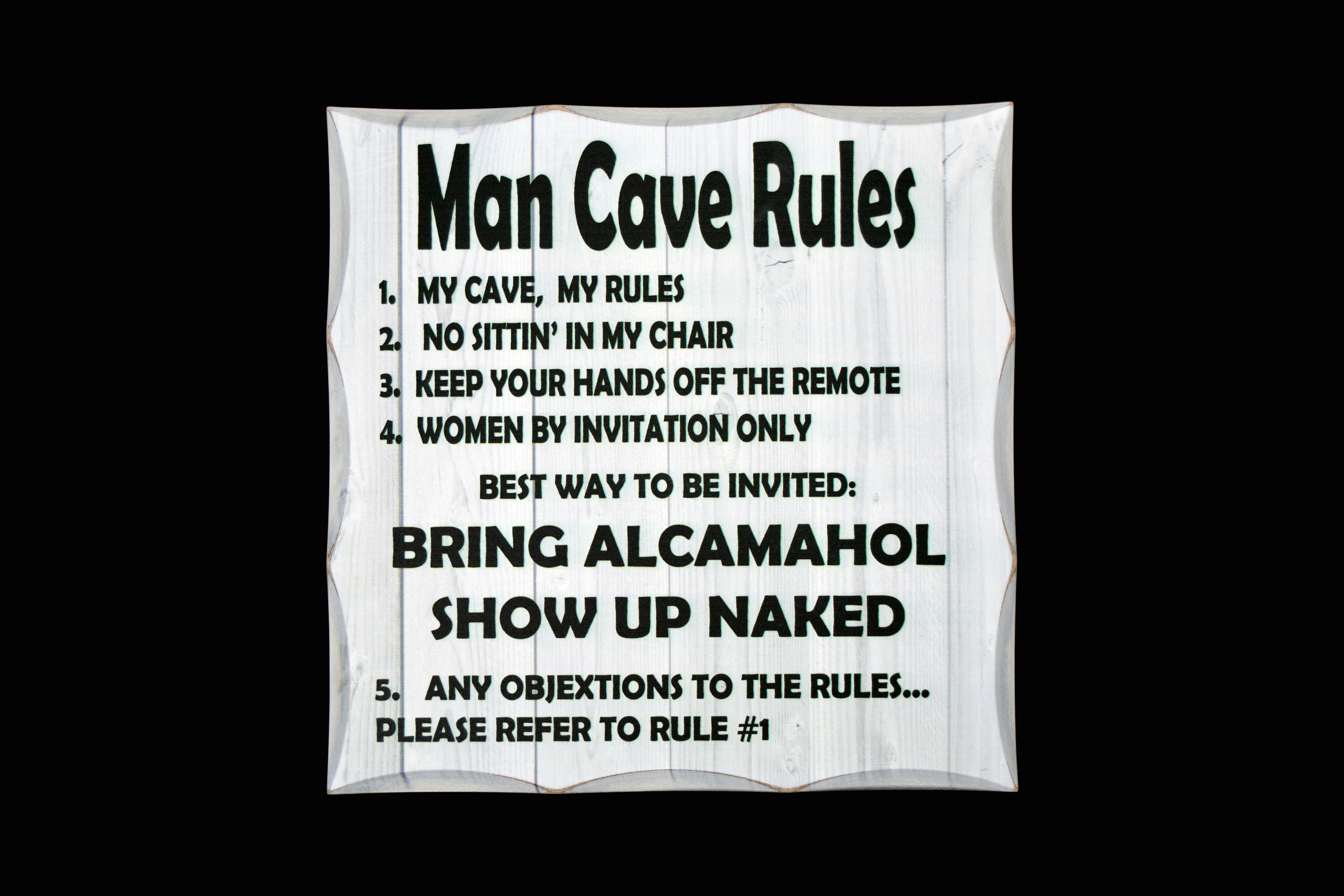 Funny man cave rules pdf